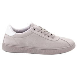 Ideal Shoes grey Gray Lace Footwear