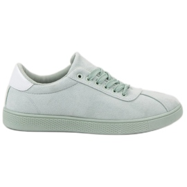 Ideal Shoes green Mint Lace-up Shoes