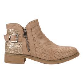 Bestelle brown Beige Snake Print Boots