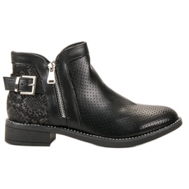 Bestelle Black Boots Snake Print