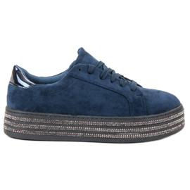 Bestelle navy Suede Sport Shoes
