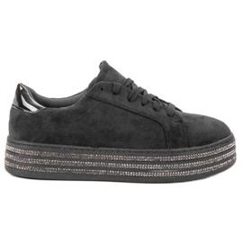 Bestelle black Suede Sport Shoes