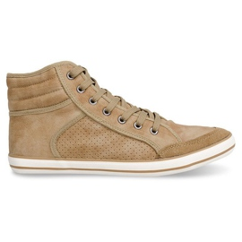 Brown 501 Camel High Boxer Sneakers