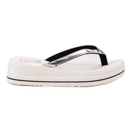 SHELOVET white Flip-flops