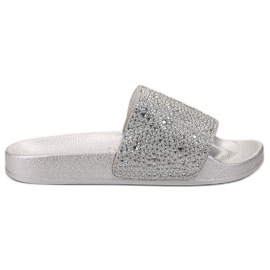 Evento grey Silver Women Slippers