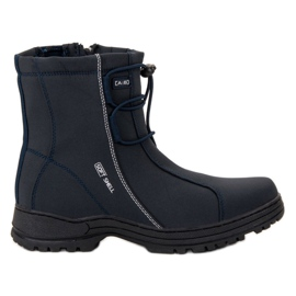 Ax Boxing Navy Blue Snow Boots