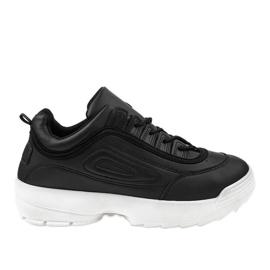 Black sport shoes sneakers GL808