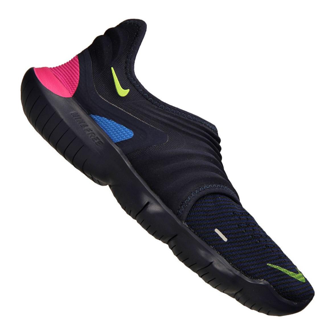 meilleur authentique e1d78 a63df Navy Nike Free Rn Flyknit 3.0 M AQ5707-400 shoes