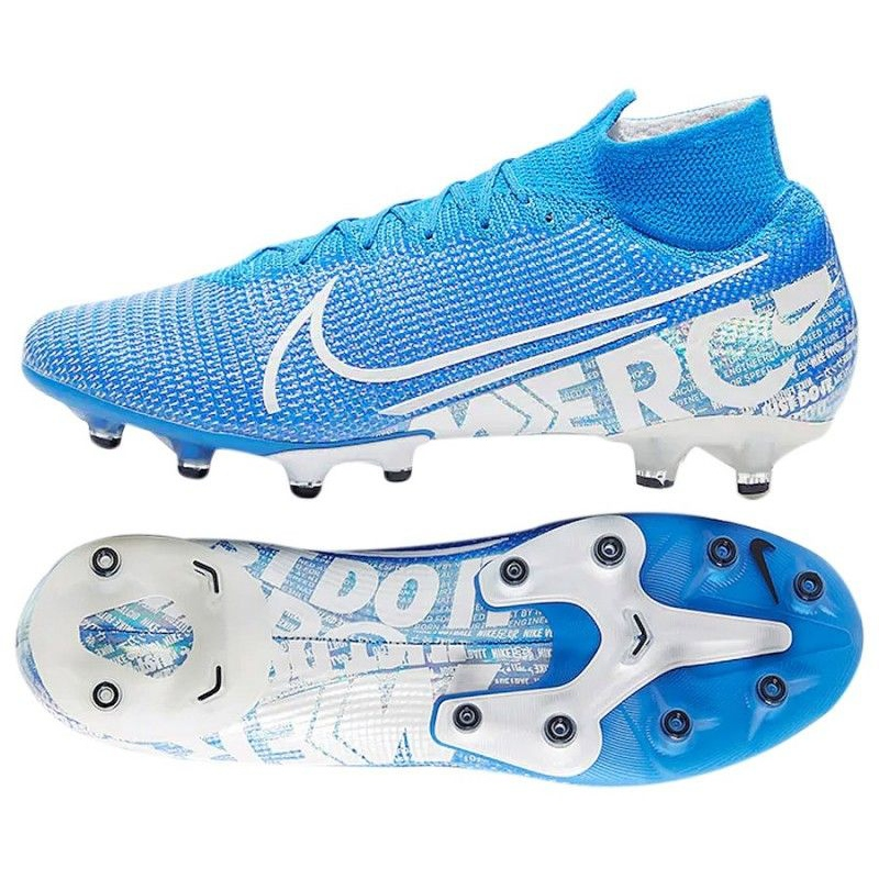 low cost 5154d d3dab Nike Mercurial Superfly 7 Elite Ag Pro M AT7892 414 shoes blue-white