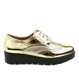 Yellow TL-60 gold lace-up shoes