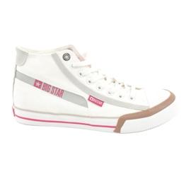 Men's sneakers Big Star 174080 white brown grey