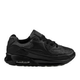 Black sports shoes sneakers B306A-61S