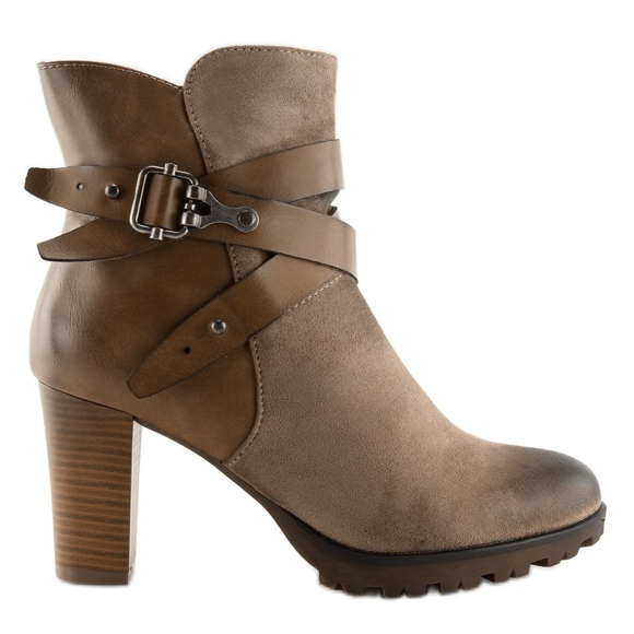 Ankle boots brown 8287 Khaki