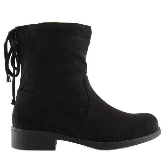 Black ladies shoes 7378-PA Black