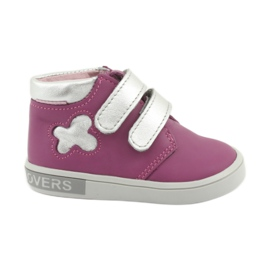 Mazurek velcro boots pink grey