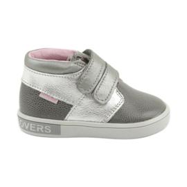 Grey Velcro shoes Mazurek 1355