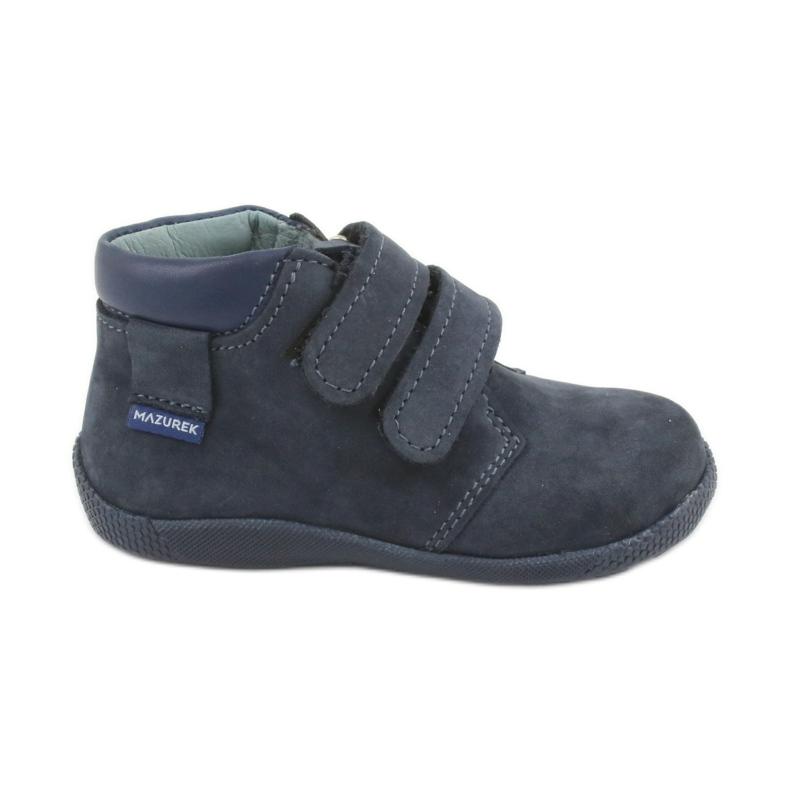 Boys' shoes with Velcro Mazurek 341 navy blue