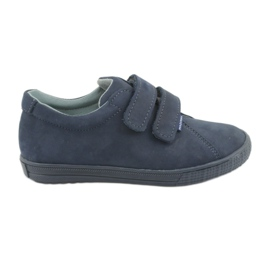 Boys' shoes Velcro Mazurek 268 navy blue