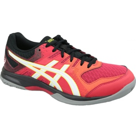 Asics Gel-Rocket 9 M 1071A030-600 volleyball shoes multicolored red