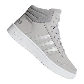Grey Adidas Hoops Mid 2.0 K Jr F35796 shoes