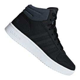 Black Adidas Hoops Mid 2.0 K Jr F35797 shoes
