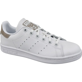 White Adidas Stan Smith Jr DB1200 shoes