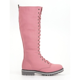 Seastar pink Lace-up Women Boots