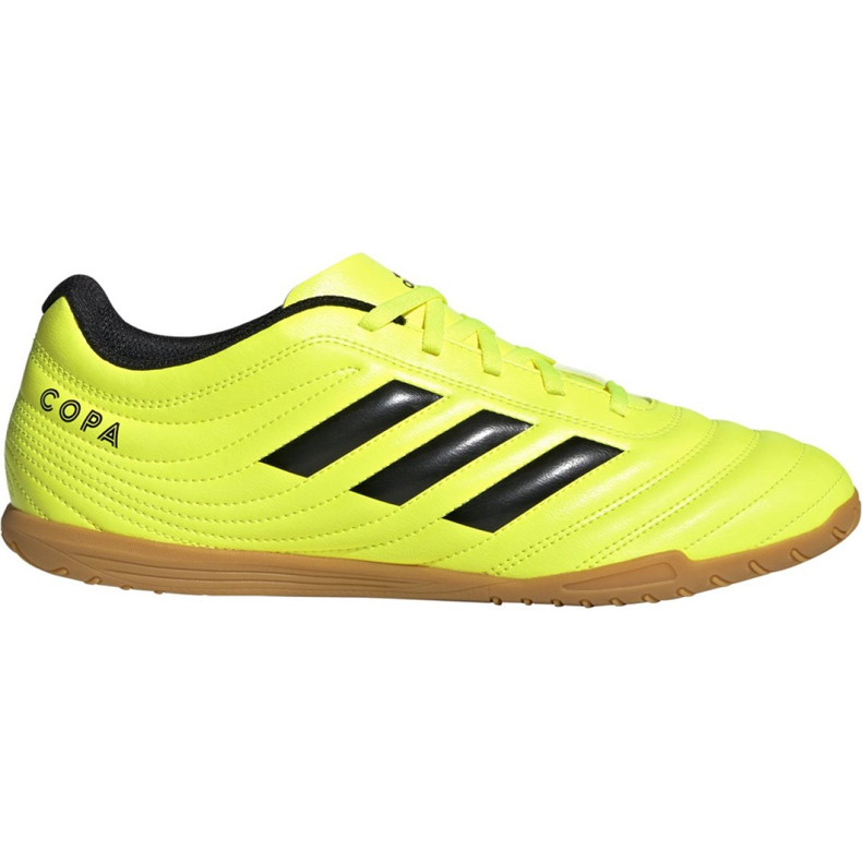 Adidas Copa 19.4 In M F35487 football shoes yellow black