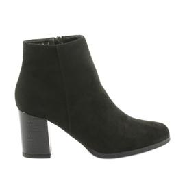 Black Boots decorative Filippo heel 1022