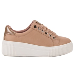 Kylie Sport Shoes On The Platform brown