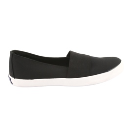 American Club women's slip-on sneakers black