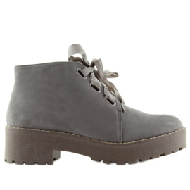Grey Boots women's shoes gray LL219 Gray