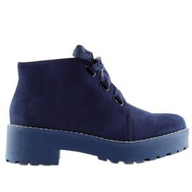 Navy Boots women's shoes dark blue LL219 Blue