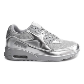 Grey Sports running shoes D1-19 Silver
