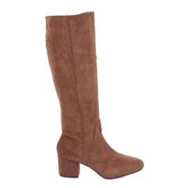 Brown High heels YQ218P Camel