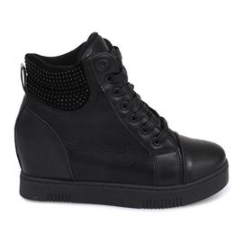 Wedge Sneakers 1651 Black