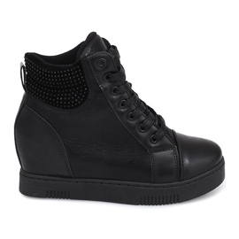 Wedge Sneakers 1651 Black