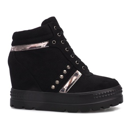 Black suede Maxime sneakers