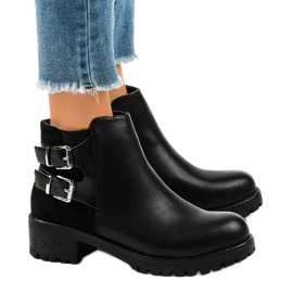 Black women's boots on a massive M181 sole