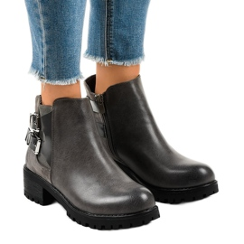 Grey Gray women's boots on a massive M181 sole