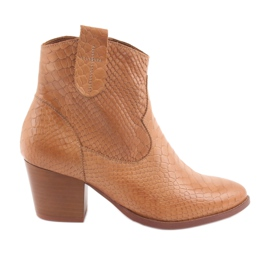 Anabelle 1466 Camel Croko women's boots brown