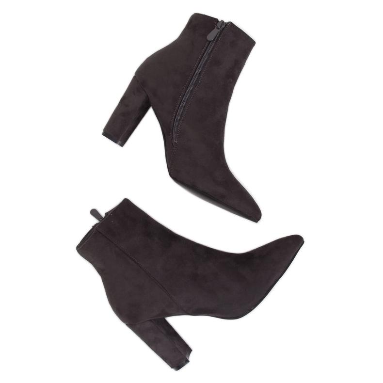 Gray High heels gray NS039P Gray grey