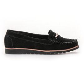 Filippo Comfortable Leather Loafers black