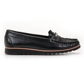 Filippo black Comfortable Leather Loafers