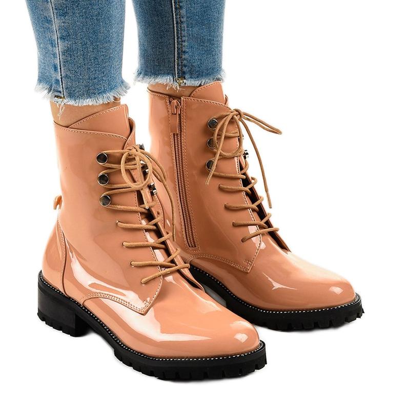 Pink women's high boots XW37278