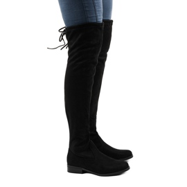 Women's suede boots 8926 black