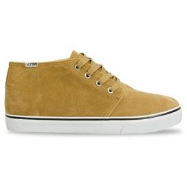 High Suede Sneakers Y009 Camel brown