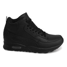 High Sneakers B3701 Black
