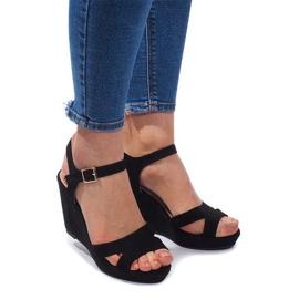 Wedge Sandals C-012 Black