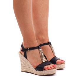 Wedge Sandals Espadrilles PT1258 Black